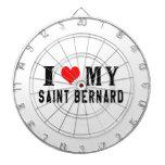 I Love My Saint Bernard Dart Board
