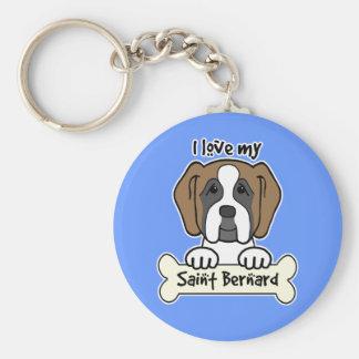 I Love My Saint Bernard Key Chains