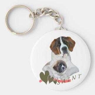I Love My Saint Bernard Merchandise Key Chains