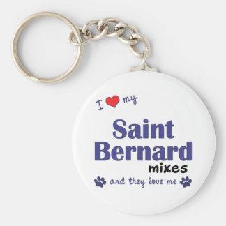 I Love My Saint Bernard Mixes (Multiple Dogs) Keychains