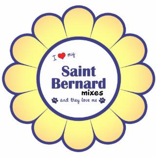 I Love My Saint Bernard Mixes (Multiple Dogs) Photo Sculpture