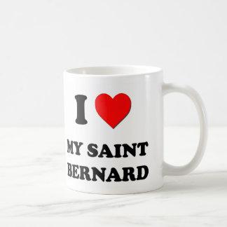 I Love My Saint Bernard Classic White Coffee Mug