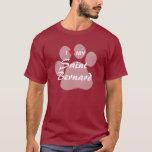 I Love My Saint Bernard Pawprint T-Shirt