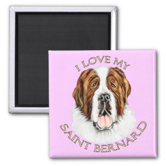 I Love my Saint Bernard Refrigerator Magnets