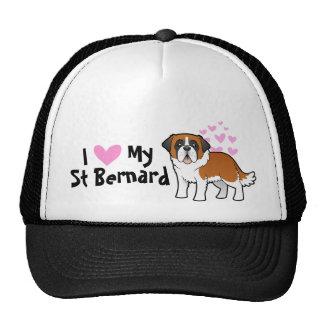 I Love My Saint Bernard Trucker Hat