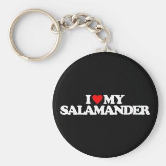 I LOVE MY SALAMANDER KEYCHAIN