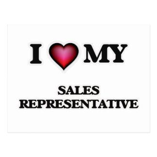 I love my Sales Representative Postcard