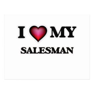 I love my Salesman Postcard