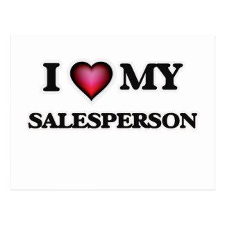 I love my Salesperson Postcard