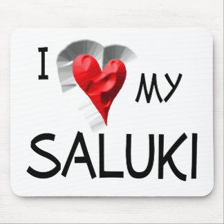 I Love My Saluki Mouse Pad