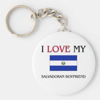 I Love My Salvadoran Boyfriend Keychain