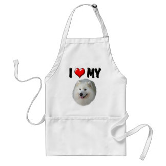 I Love My Samoyed Adult Apron