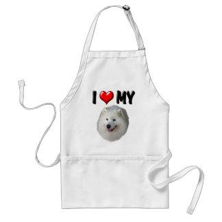 I Love My Samoyed Adult Apron