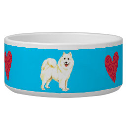 I Love my Samoyed Bowl