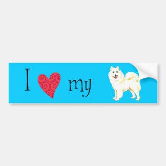 I Love my Samoyed Bumper Sticker