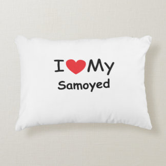 I love my Samoyed dog Accent Pillow