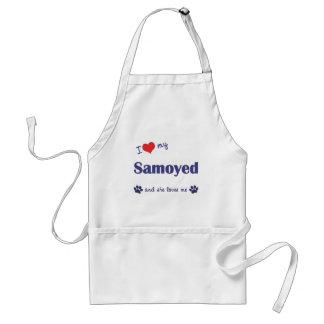 I Love My Samoyed (Female Dog) Adult Apron