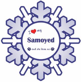 I Love My Samoyed (Female Dog) Photo Cut Outs