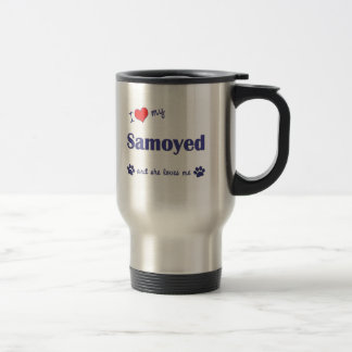 I Love My Samoyed (Female Dog) Travel Mug