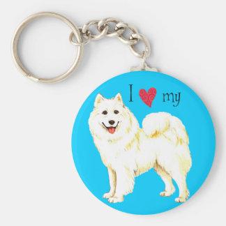 I Love my Samoyed Keychain