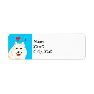 I Love my Samoyed Label