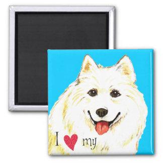 I Love my Samoyed Magnet