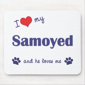 I Love My Samoyed (Male Dog) Mouse Pad