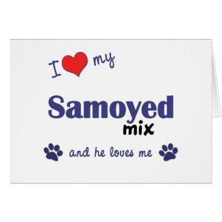 I Love My Samoyed Mix (Male Dog) Card