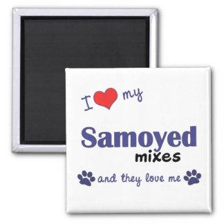 I Love My Samoyed Mixes (Multiple Dogs) Magnet