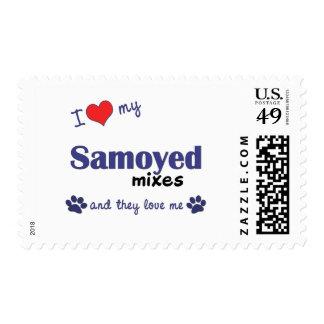 I Love My Samoyed Mixes (Multiple Dogs) Postage