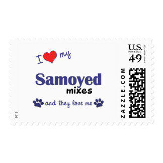 I Love My Samoyed Mixes (Multiple Dogs) Stamp