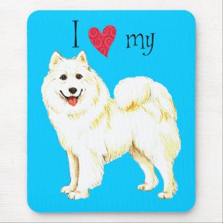 I Love my Samoyed Mouse Pad