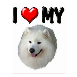 I Love My Samoyed Postcard