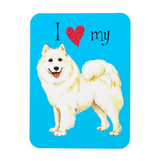 I Love my Samoyed Rectangle Magnet