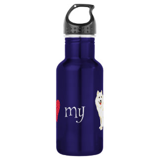 I Love my Samoyed Stainless Steel Water Bottle