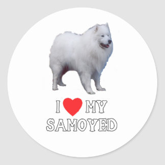 I Love My Samoyed Sticker