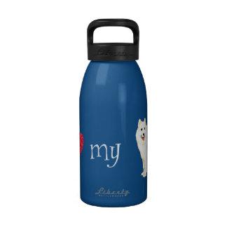 I Love my Samoyed Drinking Bottles