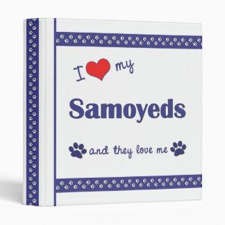I Love My Samoyeds (Multiple Dogs) 3 Ring Binders