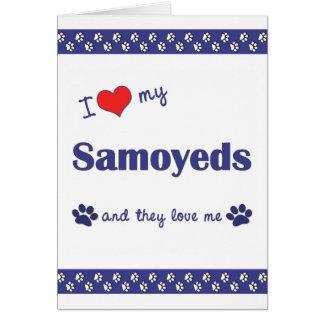 I Love My Samoyeds (Multiple Dogs) Card