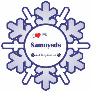 I Love My Samoyeds (Multiple Dogs) Statuette