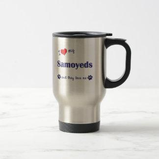 I Love My Samoyeds (Multiple Dogs) Travel Mug