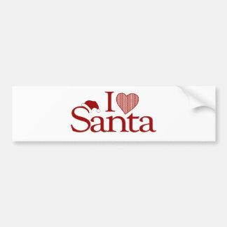 I Love My Santa Bumper Sticker