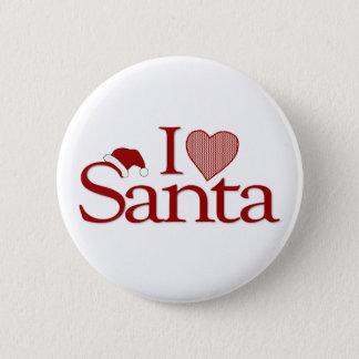 I Love My Santa Pinback Button