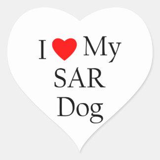 I Love My SAR Dog Heart Sticker