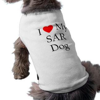 I Love My SAR Dog Pet T-shirt