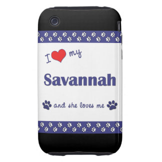 I Love My Savannah (Female Cat) iPhone 3 Tough Cases