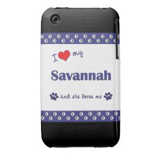 I Love My Savannah (Female Cat) iPhone 3 Case
