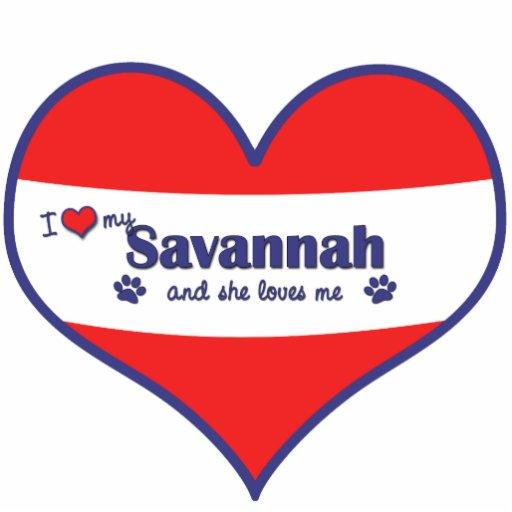 I Love My Savannah (Female Cat) Photo Cutouts