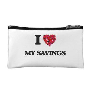I Love My Savings Cosmetic Bags