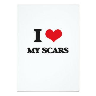 "I Love My Scars 5"" X 7"" Invitation Card"